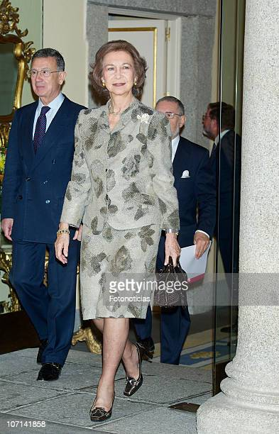 Queen Sofia of Spain attends European Union Cultural Award Europa Nostra 2009 2010 at El Pardo Palaceon November 25 2010 in Madrid Spain
