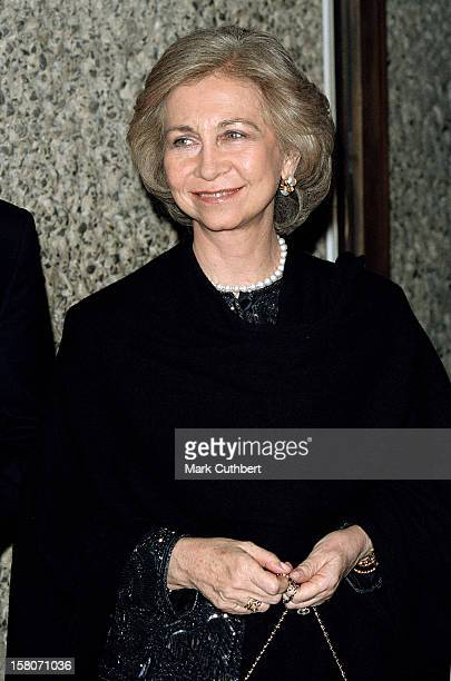 Queen Sofia Of Spain Attends Gala ConcertAt London'S Barbican To Celebrate The 75Th Birthday Of Russian Conductor Pianist Mstislav Rostropovich