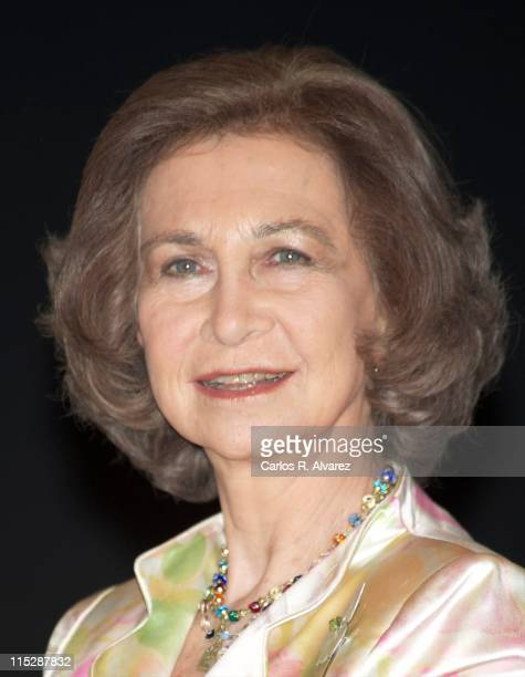 Queen Sofia of Spain attends Madrid Youth Musical grants ceremony at Mutua Madrilena Foundation on June 6 2011 in Madrid Spain