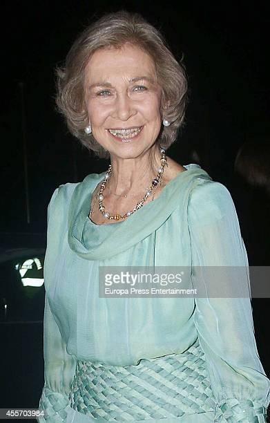 Queen Sofia of Spain attends private dinner to celebrate the Golden Wedding Anniversary of King Constantine II and Queen Anne Marie of Greece at...