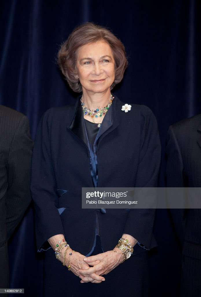 Queen Sofia of Spain Attends 'Reina Sofia International Conservation of Cultural Heritage Award 2012'