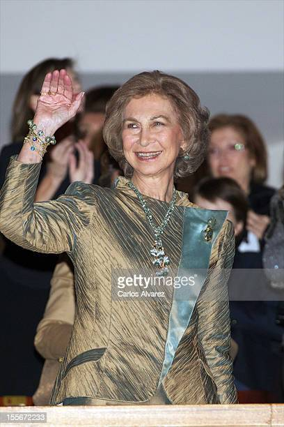 Queen Sofia of Spain attends the BMW painting award and charity concert at the Auditorio Nacional on November 6 2012 in Madrid Spain