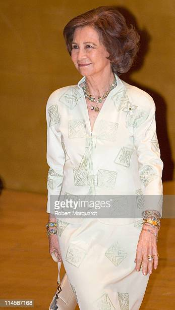 Queen Sofia of Spain attends the ceremony of newly appointed judges at the L'Auditori on May 24 2011 in Barcelona Spain
