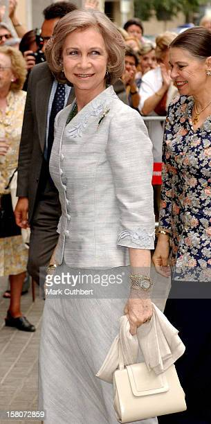 Queen Sofia Of Spain Attends The Christening Of Princess Alexia Of Greece Carlos Morales Quintana'S Daughter Arrietta In Barcelona