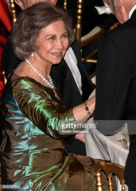 Queen Sofia of Spain attends the Circulo de Liceo award ceremony at the Gran Teatre del Liceu on February 20 2017 in Barcelona Spain