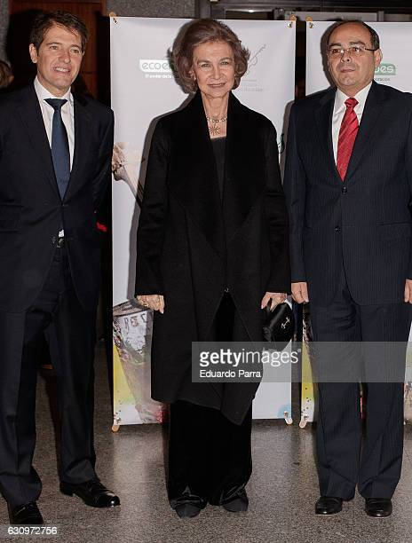 Queen Sofia of Spain attends the concert of the Orquesta de Reciclados de Cateura at Royal Theatre on January 4 2017 in Madrid Spain
