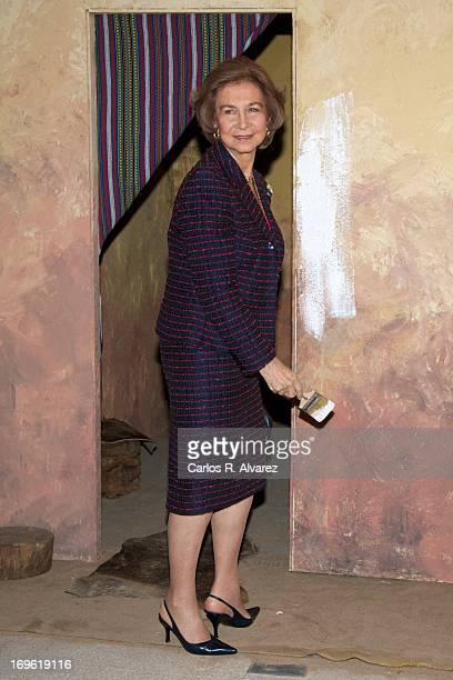 Queen Sofia of Spain attends the 'Mujeres Por Africa' exhibition at the COAM on May 29 2013 in Madrid Spain