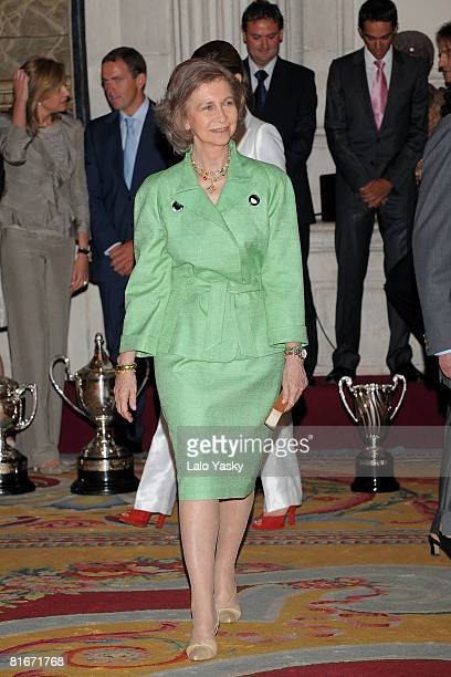 Queen Sofia of Spain attends the National Sports Awards ceremony held at The Royal Palace on June 23 2008 in Madrid Spain