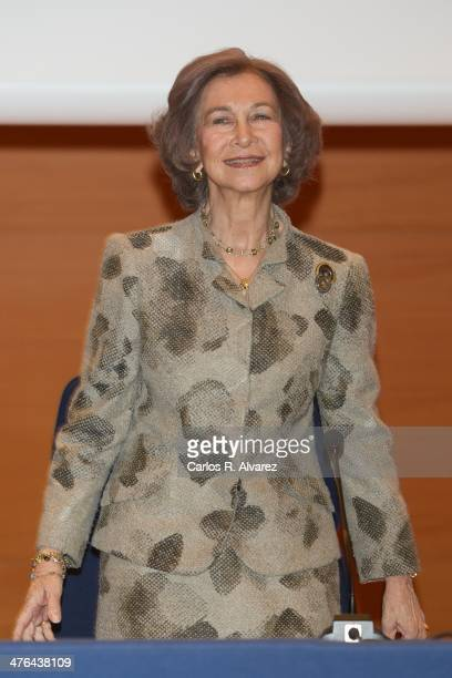 Queen Sofia of Spain attends the opening of the training course on Cyber Crime Investigation Against Children on March 3 2014 in Madrid Spain