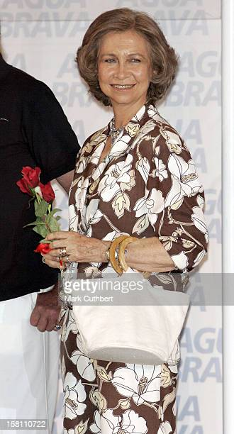 Queen Sofia Of Spain Attends The Prizegiving Presentation At The 2005 Copa Del Rey Regatta In Palma De Mallorca