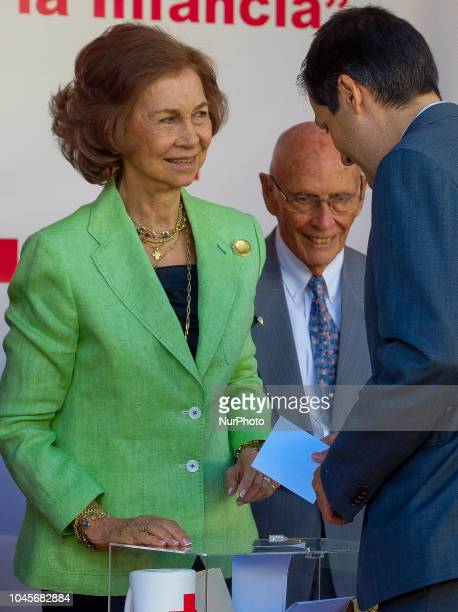 Queen Sofia of Spain attends the Red Cross World Day on October 4 2018 in Madrid Spain