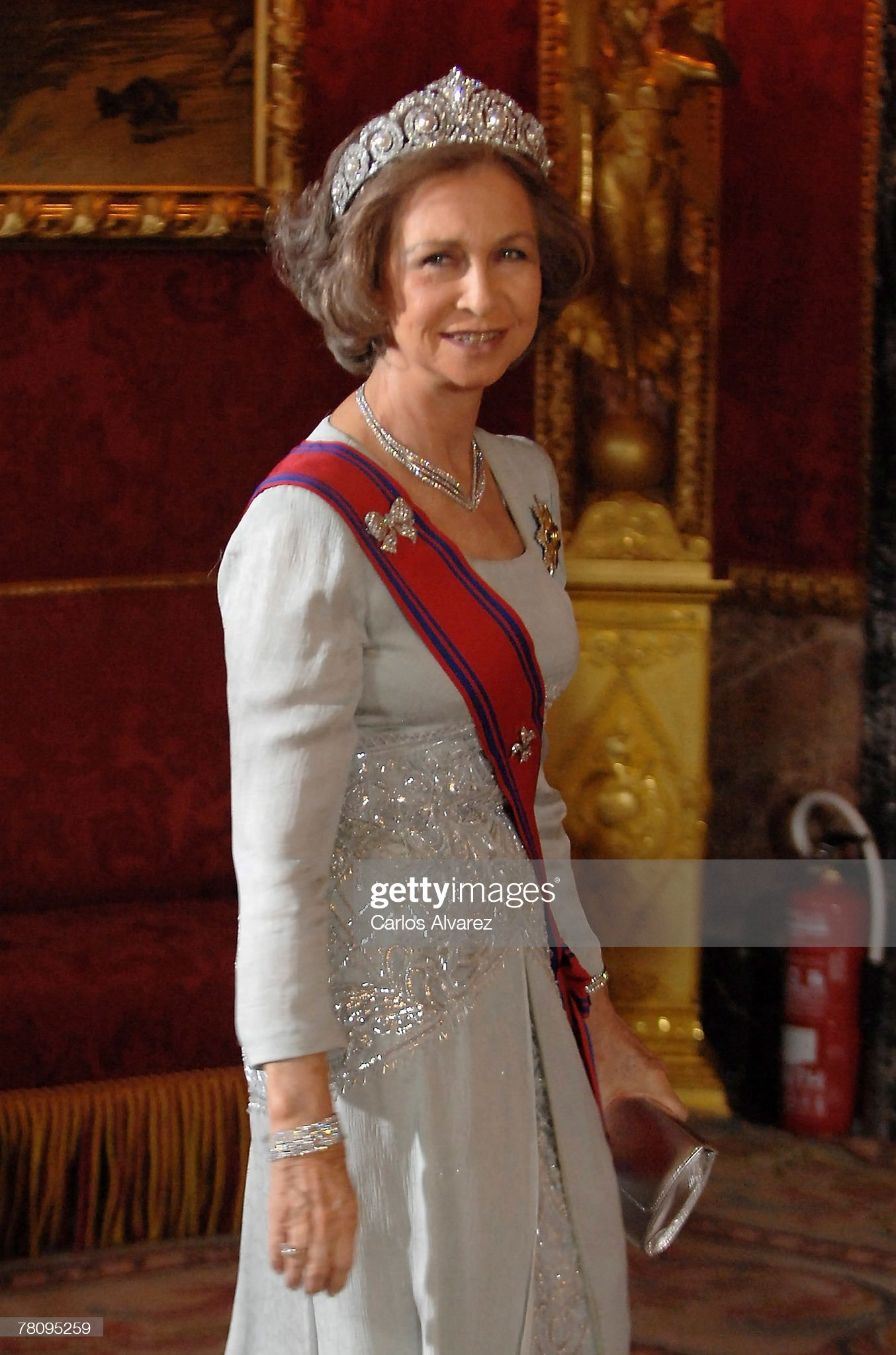Spanish Royals Receive Romanian President For A Gala Dinner : News Photo
