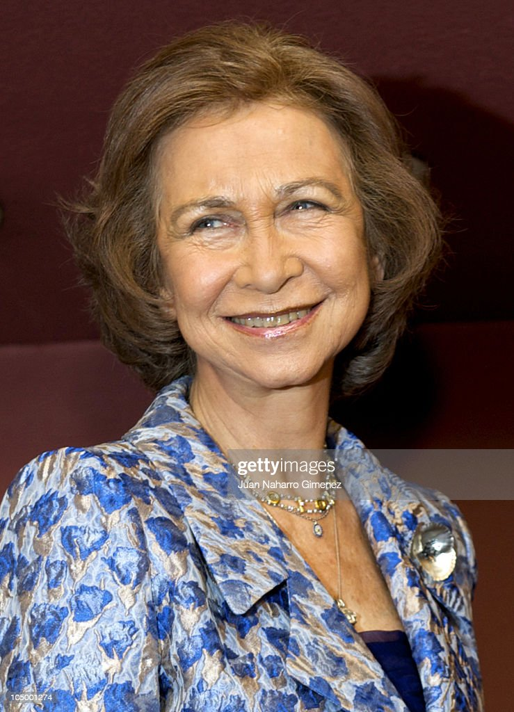 Spanish Queen Sofia Attends a Concert in Madrid