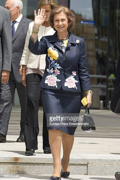 Queen Sofia of Spain attends World Red Cross and Red Crescent Day celebration on May 8 2013 in Malaga Spain