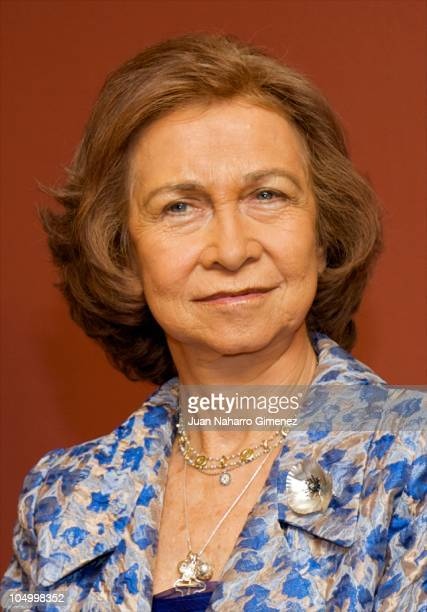 Queen Sofia of Spain attends 'XXVII Premio Reina Sofia de Composicion Musical 2009' at Monumental Theater on October 7 2010 in Madrid Spain