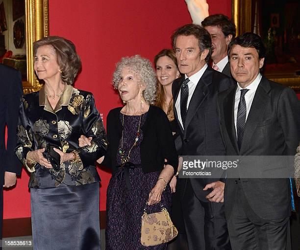 Queen Sofia of Spain Cayetana FitzJames Stuart Duchess of Alba her husband Alfonso Diez and Ignacio Gonzalez attend 'El Legado Casa de Alba'...