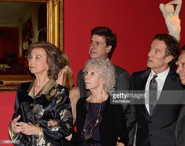 Queen Sofia of Spain Cayetano Martinez de Irujo Cayetana FitzJames Stuart Duchess of Alba and her husband Alfonso Diez attend 'El Legado Casa de...