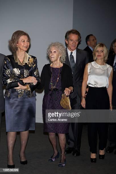 Queen Sofia of Spain Duchess of Alba Cayetana FitzJames Stuart Alfonso Diez and Cayetana Martinez de Irujo attend El Legado Casa de Alba Art...