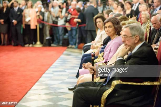 Queen Sofia of Spain during a mass to celebrate the 80th birthday of the Bulgaria's exKing and former Prime Minister Simeon SaxeCoburgGotha at the...