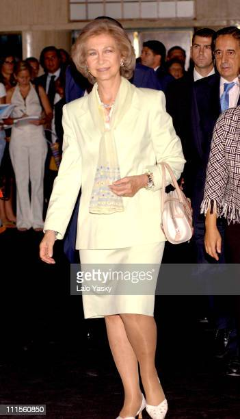 Queen Sofia of Spain during 'Dressed to Make History' 18602004 Opened by Queen Sofia of Spain at Circulo de Bellas Artes Madrid in Madrid Spain