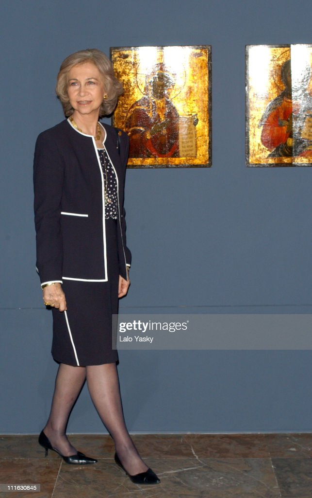 "Queen Sofia Of Spain At ""Bizancio"" Exibition - Madrid"