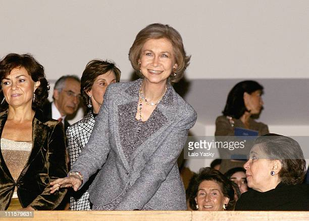 Queen Sofia of Spain during Queen Sofia of Spain Attends Mstislav Rostropovich Concert February 16 2005 at Auditorio Nacional de Musica in Madrid...