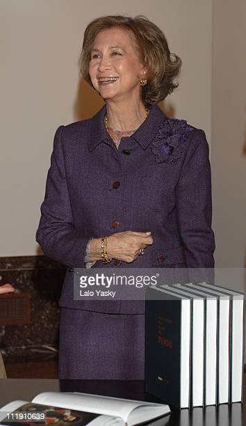 Queen Sofia of Spain during The Prado Museum Encyclopedia Presentation at El Prado Museum in Madrid Spain