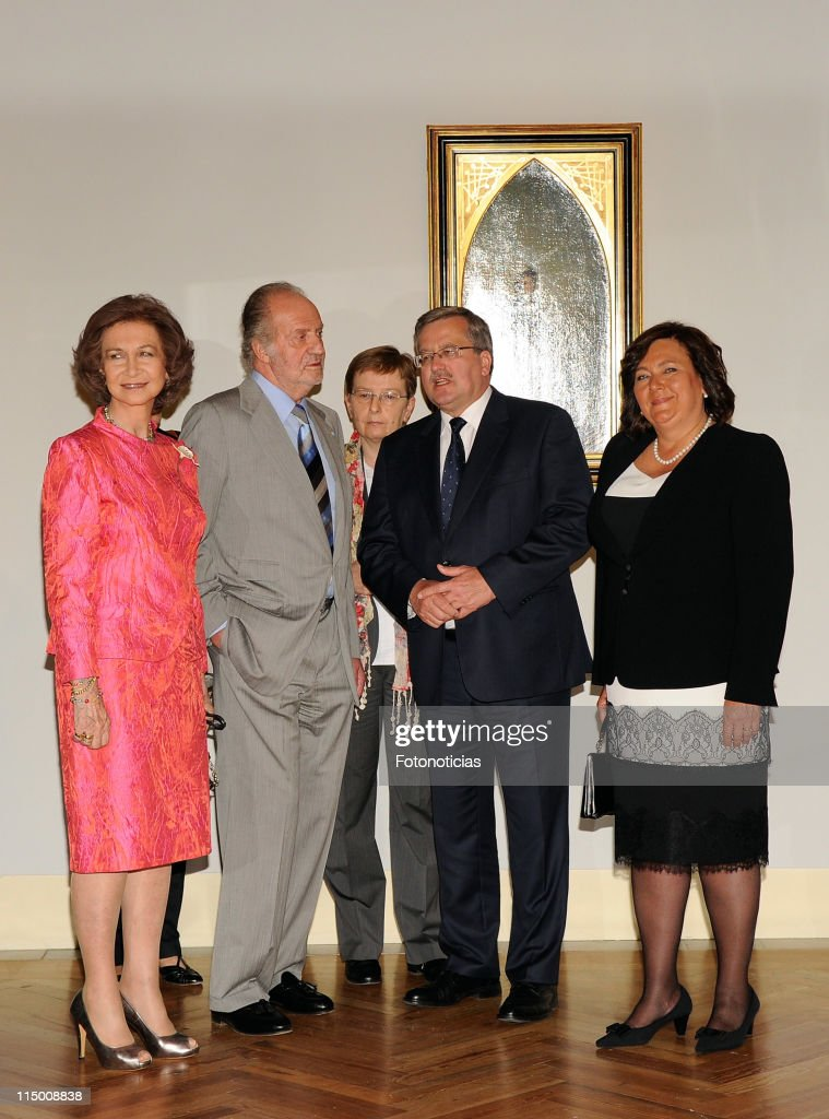 King Juan Carlos and Queen Sofia of Spain Attend the Opening of 'Polonia, Tesoros y Colecciones Artisticas' Exhibition