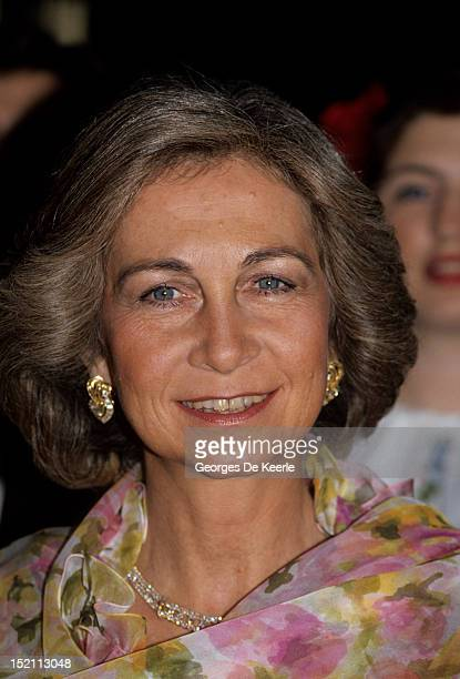 Queen Sofia of Spain on April 1988
