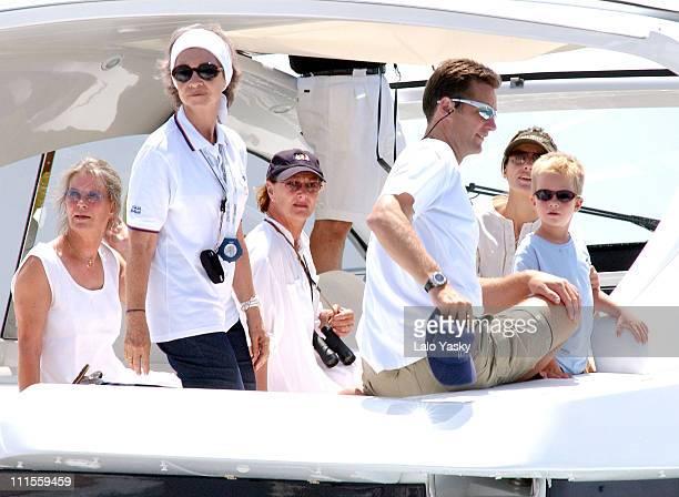 Queen Sofia of Spain Queen Sonia of Norway Inaki Urdangarin Princess Letizia of Spain and Urdangarin's son Pablo Nicolas