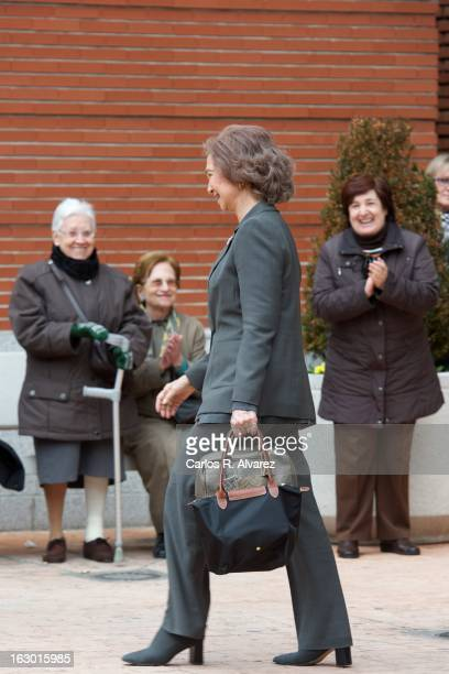 Queen Sofia of Spain visits King Juan Carlos of Spain at La Milagrosa Hospital on March 3 2013 in Madrid Spain King Juan Carlos of Spain goes under...