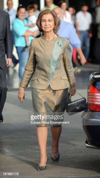 Queen Sofia of Spain visits King Juan Carlos of Spain at Quiron Hospital where Spain's King Juan Carlos has undergone an operation on September 26...