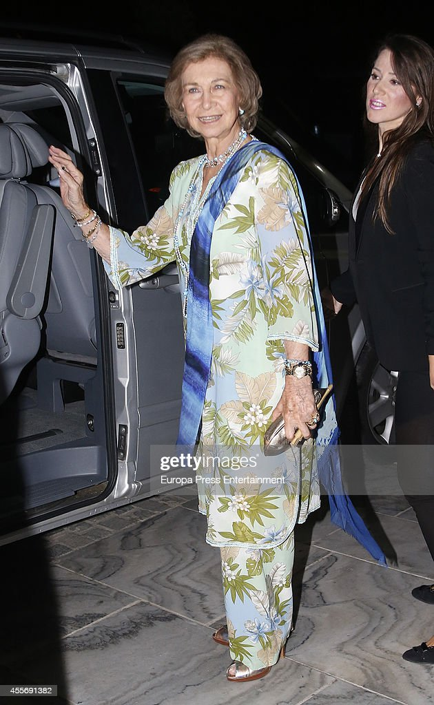 Queen Sofia os Spain attends the Golden Wedding Anniversary of King Constantine II and Queen Anne Marie of Greece at Acropolis Museum on September 17, 2014 in Athens, Greece.