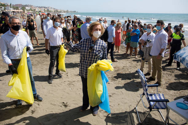 ESP: Queen Sofia Of Spain Attends The International Beach Cleanup Day