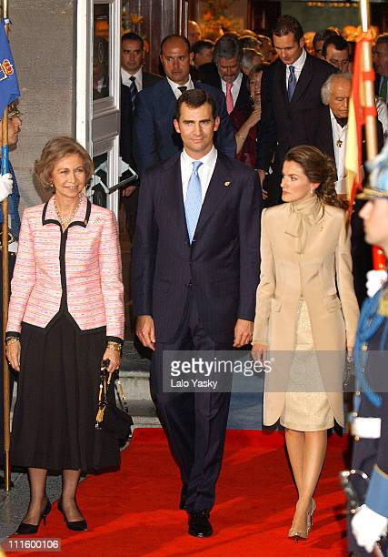 Queen Sofia Prince Felipe and Princess Letizia during 24th Annual Prince of Asturias Awards Ceremony at Campoamor Theatre in Oviedo Oviedo Spain