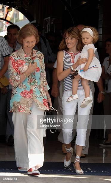 Queen Sofia Princess Letizia and Princess Leonor attend the 26th Copa del Rey Sailing Trophy on July 30 2007 in Mallorca Spain