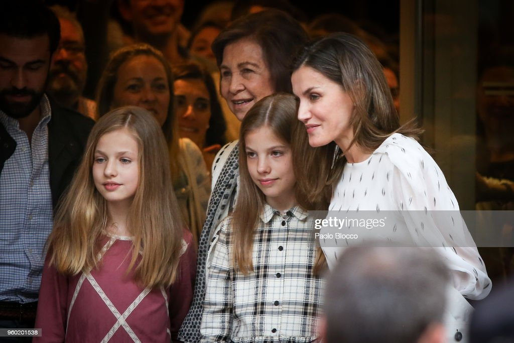 Spanish Royals Sighting After Going To See 'Billy Elliot' Theatre Play