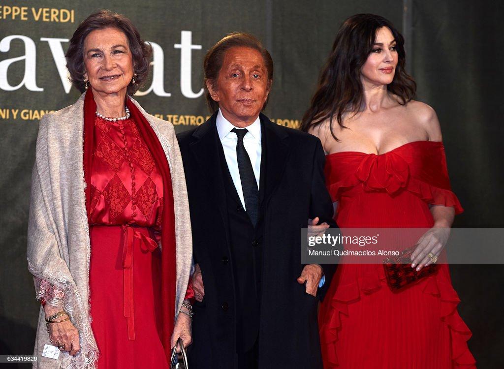 Queen Sofia Attends 'La Traviata' Opera in Valencia : News Photo