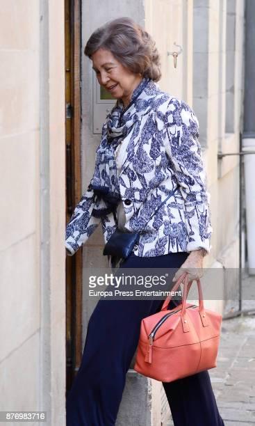 Queen Sofia visits Juan Valentin Urdangarin the day of his 18th birthday on September 29 2017 in Geneva Switzerland