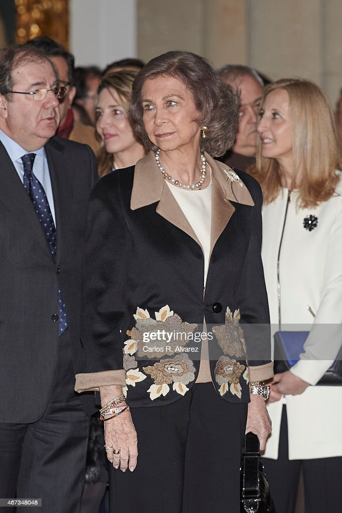 Queen Sofia Visits The Basilica of Santa Teresa in Salamanca : News Photo