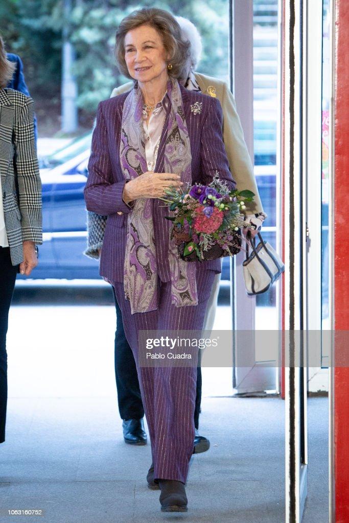 Queen Sofia Visits Rastrillo Nuevo Futuro : News Photo