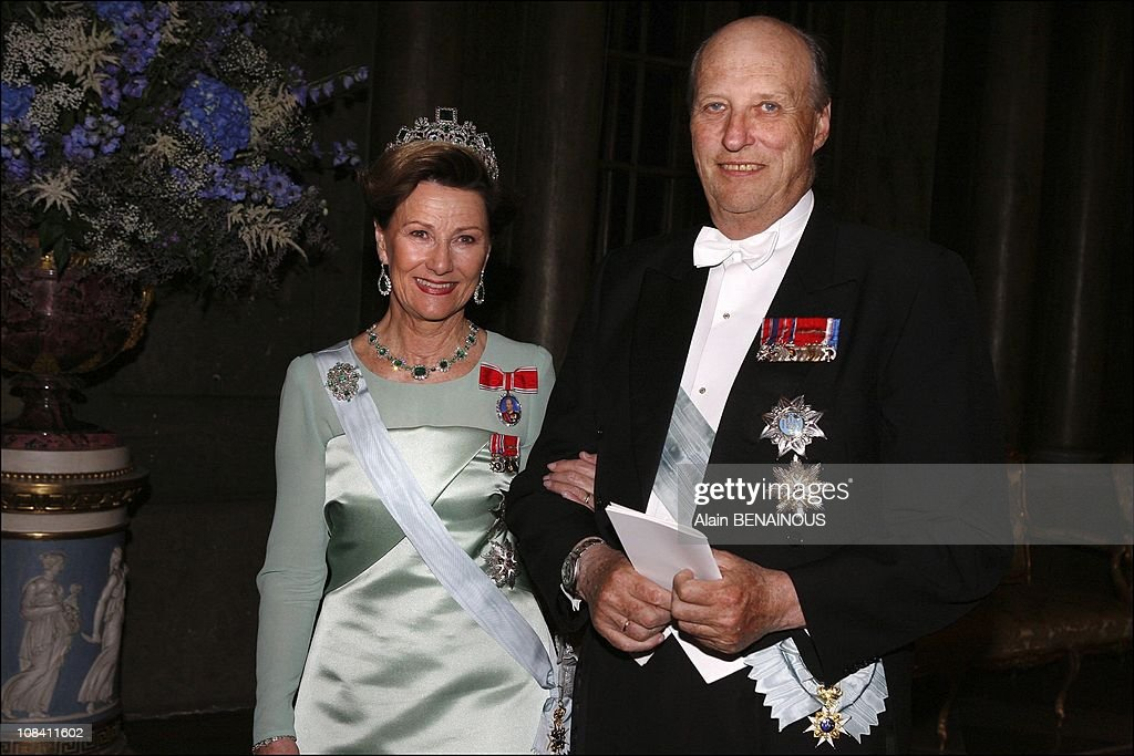 King Carl Gustaf's sixtieth birthday gala dinner at the Royal Palace of Stockholm in Stockholm, Sweden on April 30, 2006. : News Photo