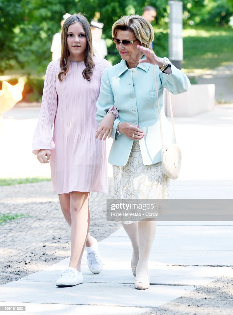Norwegian Royals Attend Unveiling Of New Sculptures : News Photo
