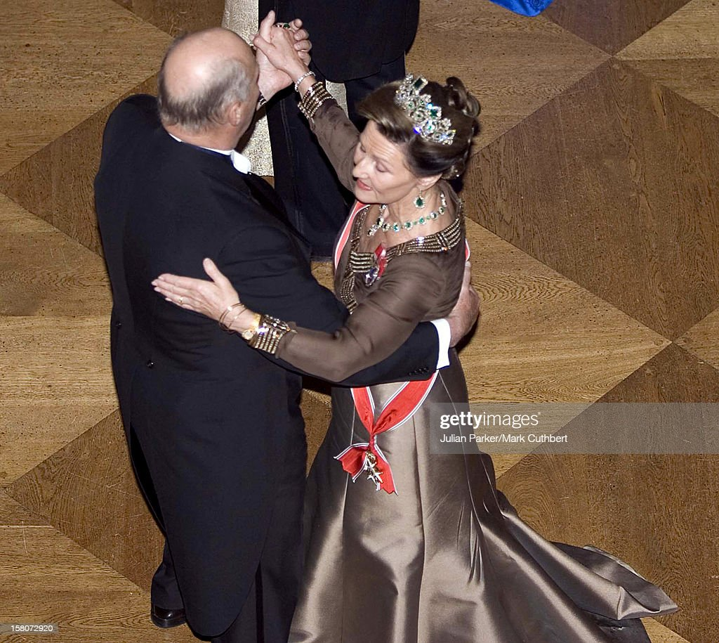 Queen Sonja Attends King Harald Of Norway'S 70Th Birthday Celebrations In Oslo.Gala Dinner & Dance At The Royal Palace.