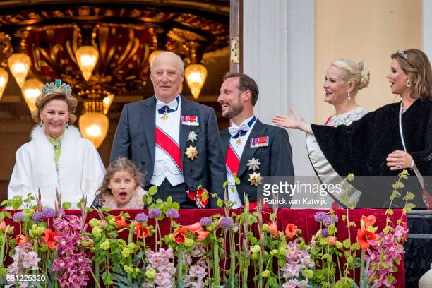 Queen Sonja King Harald Emma Tallulah Behn Crown Princess MetteMarit Crown Prince Haakon and Princess Martha Louise of Norway attend the official...