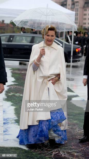 Queen Sonja of Norway attends a Gala Banquet hosted by The Government at The Opera House as part of the Celebrations of the 80th Birthdays of King...