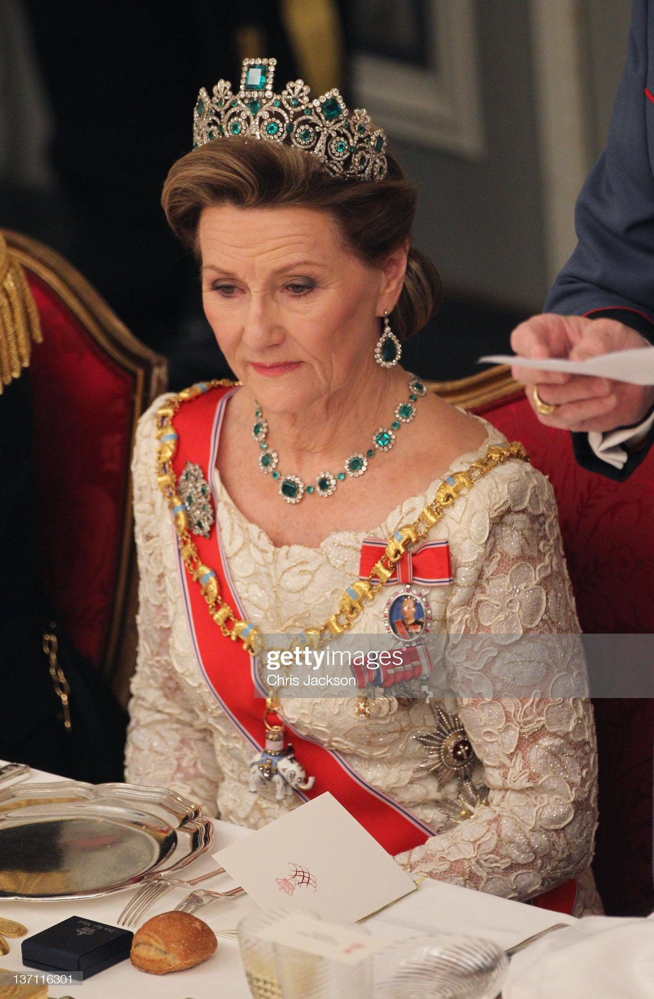 Queen Margrethe II of Denmark Celebrates 40 Years on The Throne - Celebratory Service : News Photo