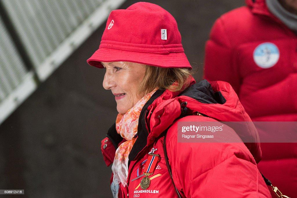 Norwegian Royals Attend Holmenkollen FIS World Cup Nordic : News Photo