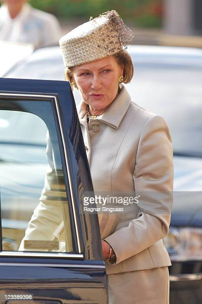 Queen Sonja of Norway attends the 200th anniversary of The University of Oslo at the University Hall on September 2 2011 in Oslo Norway