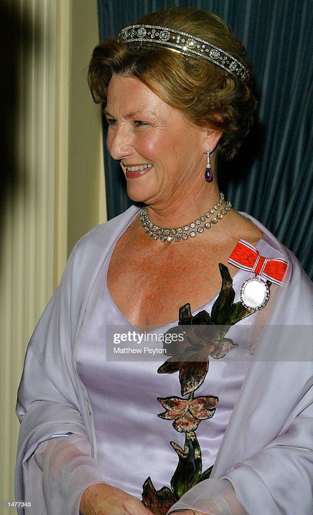 Queen Sonja of Norway attends the American-Scandinavian Foundation Annual Gala Dinner Dance October 15, 2002 in New York City.